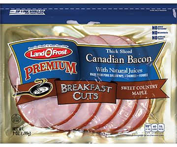 Premium - Thick Sliced Canadian Bacon Sweet Country Maple
